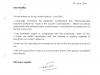 Dr. Satish Reddy's letter